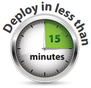 Deploy in less than 15 minutes